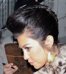 braided pompadour hairstyle pictures do or don t kourtney kardashian s pompadour esque updo hairstyle