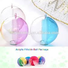 clear plastic acrylic fillable ornament clear plastic