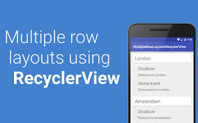 layout manager tutorialspoint multiple row layouts using recyclerview mobile development