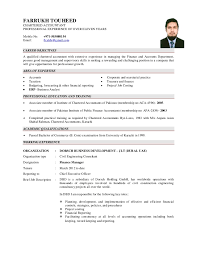 chartered accountant resume cv farrukh touheed aca