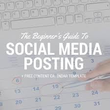 social media posting guide calendar template smarter searches