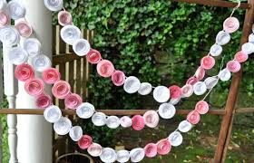 inspired wedding garland paper flowers mid south bride