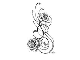 Tribal Tattoos With Roses - black outline design tattoobitecom take aweinspiring