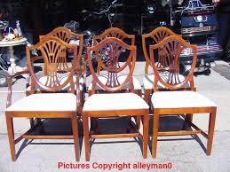 Drexel Heritage Dining Room Sets Shield Back Dining Room Chairs Mahogany Dining Chairs Shield Back