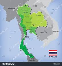 Thailand World Map by Map Flag Thailand Stock Vector 515375080 Shutterstock