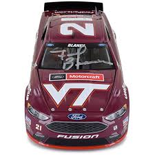 autographed frank beamer 2016 virginia tech diecast 1 24 driven by ry