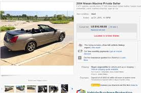 nissan convertible black 2004 nissan maxima convertible is a strange ebay find