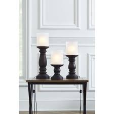 portfolio 3 piece bronze casual transitional lamp set with glass