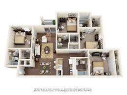 4 bed floor plans 4 bed 4 bath apartment in orlando fl college station