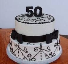 50th birthday cake 50th black and white birthday cake