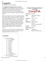 comptia wikipedia the free encyclopedia comp tia