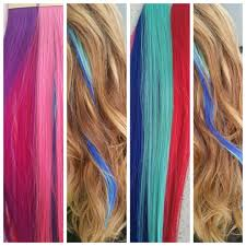 Red Tape Hair Extensions by Head Fantasy Tape In Extensions For A Pop Of Color Without The