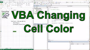 vba macro for changing a cell color youtube