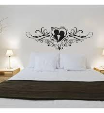 stickers chambre adulte sticker déco tête de lit coeur amour ornement