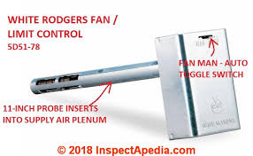 white rodgers fan limit control furnace fan limit switch how does a fan limit switch work how to