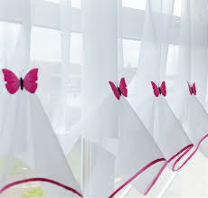 voile panels butterfly blind fuchsia nets u0026 curtains direct 2u