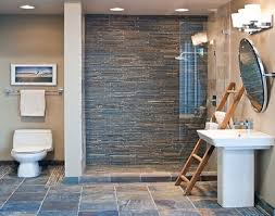 bathroom slate tile ideas bathroom gray mosaic tile accent wall pictures decorations