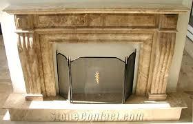Travertine Fireplace Hearth - brown travertine fireplace mantel from greece stonecontact com
