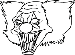 Clown Fish Coloring Pictures Scary To Color Pages For Kids And Scary Coloring Paes
