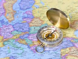 Europe On Map by Gold Compass On Map Of Europe U2014 Stock Photo Guzel 33192617