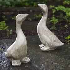 cania international goose cast garden statue hayneedle