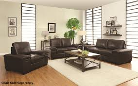 Modern Bedroom Sets Los Angeles Winfred Brown Leather Sofa And Loveseat Set Steal A Sofa