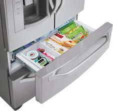 lg lsmx211st 20 5 cu ft 4 door french door refrigerator with