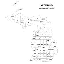 Maps Of Michigan Michigan County Map U2013 Jigsaw Genealogy