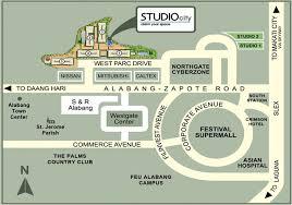 studio city map studio city filinvest land