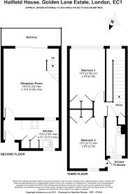 Hatfield House Floor Plan by 2 Bedroom Flat For Sale In Hatfield House Golden Lane Estate Ec1