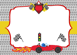 free printable race car birthday party invitations template