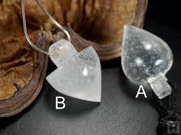 crystal rock pendant necklace images White clear quartz crystal rock pendulum pendant necklace with jpg