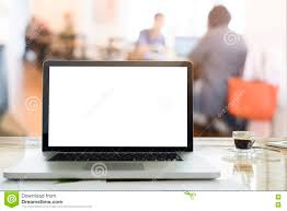 Laptops Desk by Feeling Relax Laptops On Desk In Workspace Coffee Cafe With Morn