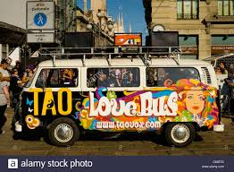 volkswagen van hippie hippie volkswagen van parked in milan stock photo 38308496 alamy