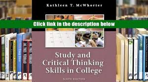 pdf study and critical thinking skills in college 6th edition