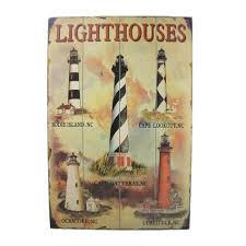 lighthouse home decor buy wooden lighthouse wall plaque 24 inch nautical home decor