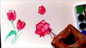 easy tutorial how to paint roses using watercolor for beginners
