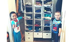 how to organize kids clothes closet no more hanging youtube