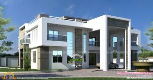 flat roof arabian house plan kerala home design and modern house