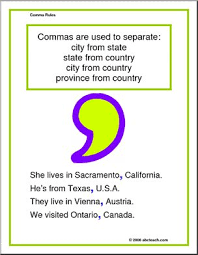 punctuation poster comma rules multi age abcteach