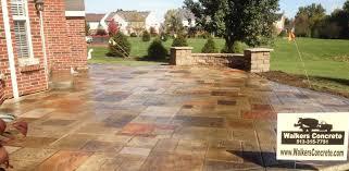 Backyard Stamped Concrete Patio Ideas Walkers Concrete Llc Stamped Concrete Patio Ideas Stamped
