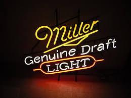 miller genuine draft light 2018 brand new miller genuine draft light real glass neon sign light