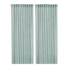 Green And Blue Curtains Lejongap Curtains 1 Pair Ikea
