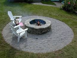 Gravel Fire Pit Area - fascinating backyard fire pit building tips diy network youtube