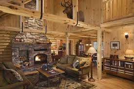 log cabin living room decor private guest house desmone pleasing log cabin living room home