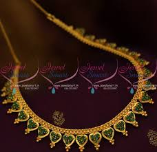 chain necklace gold designs images Nl8861 emerald green simple design chain necklace gold plated JPG