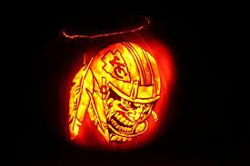 Chiefs Halloween Costumes Pumpkin Carving Kansas Chiefs Lantern
