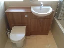 Bathroom Fitted Furniture Combined Toilet Basin Unit In A Bathroom Installation Project By
