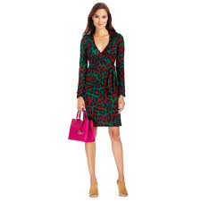 diane von furstenberg savannah printed silk wrap dress lyst