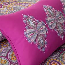 Fuschia Bedding Mizone Keisha Twin Comforter Set Free Shipping